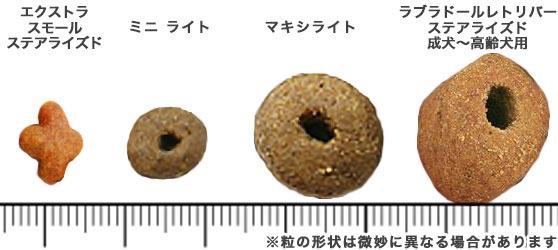 ロイヤルカナンのキブル(粒)の比較